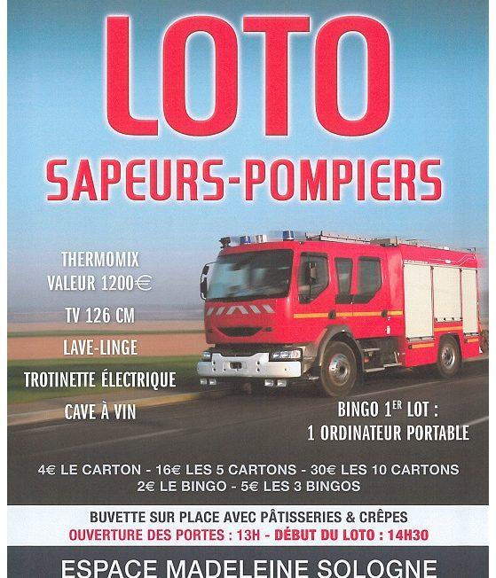 LOTO des Sapeurs-Pompiers 15 mars reporté au 18 octobre 2020 à LA FERTE-SAINT-AUBIN ©