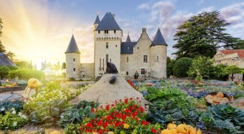 Château and gardens of Le Rivau – Loire Valley Chateaux, France.