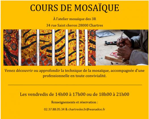 Cours de mosaïque adultes à Chartres à CHARTRES ©