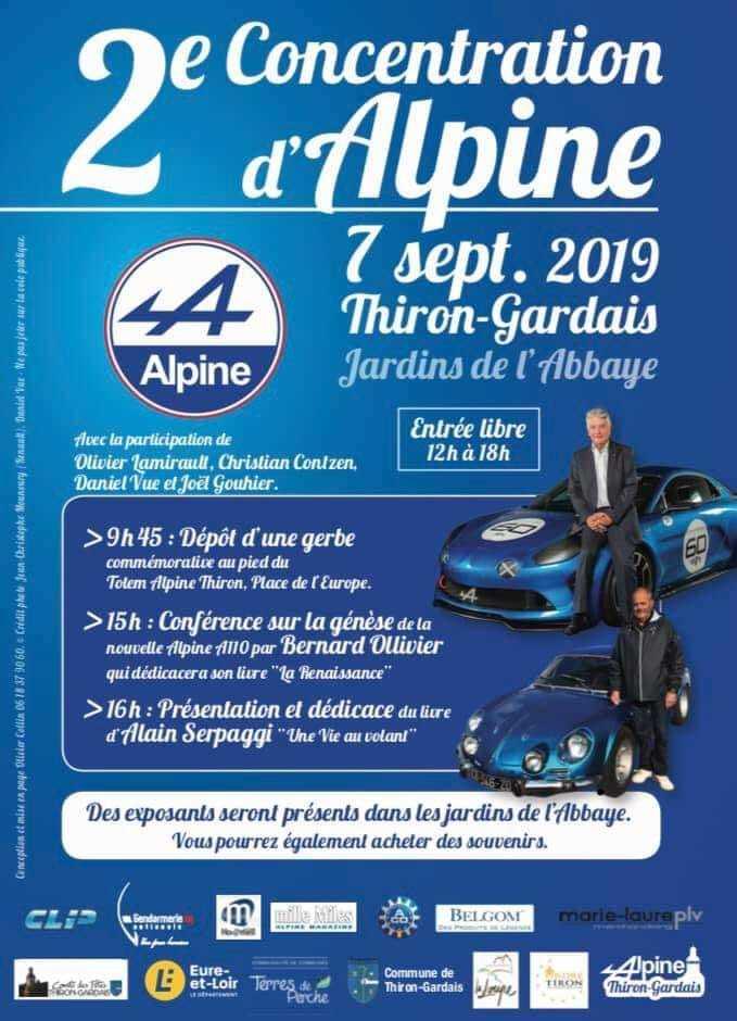 2e Concentration d'Alpine à THIRON-GARDAIS © CDF et Mairie ThironGardais