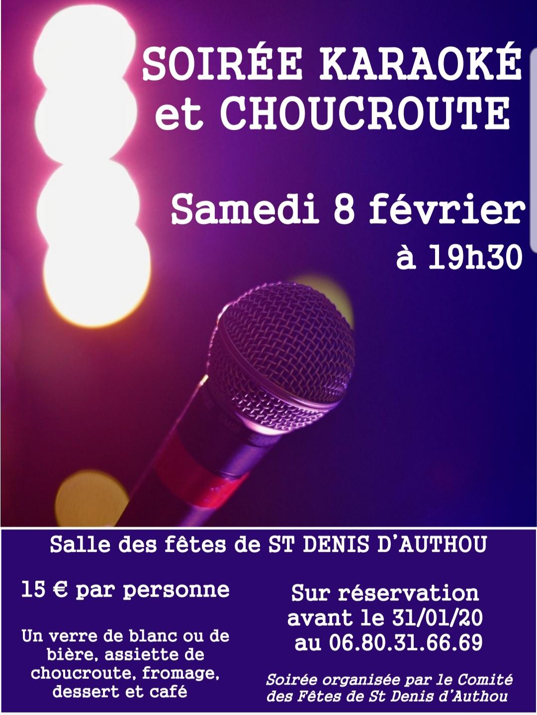 Soirée choucroute et karaoké à SAINTIGNY © CDF SDA