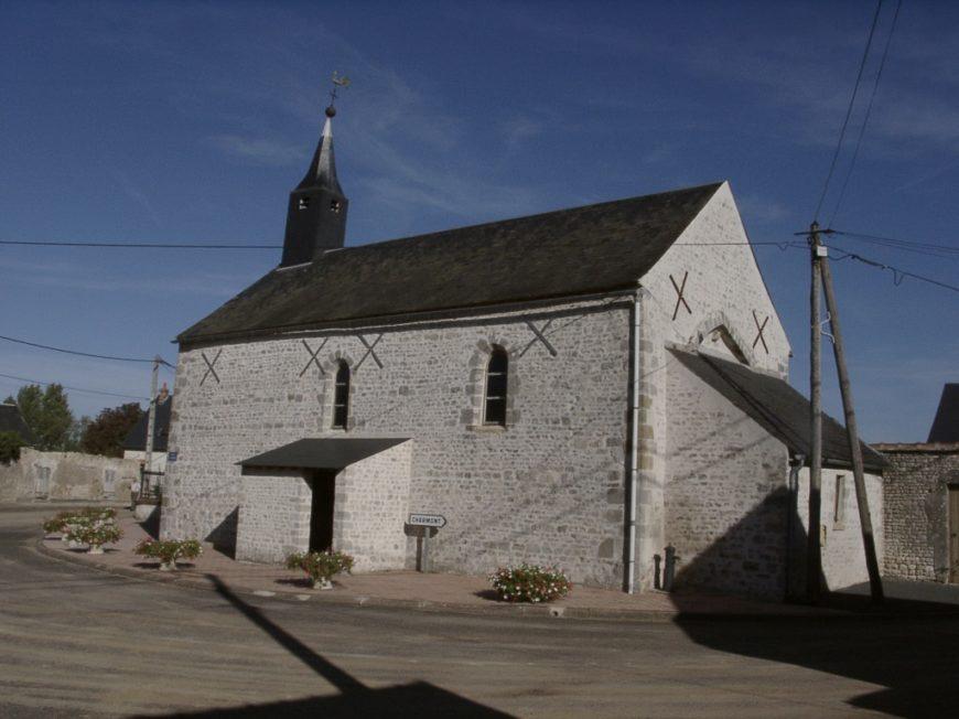 Eglise Sainte-Catherine-Sainte-Mesme de Léouville à LEOUVILLE © CSP