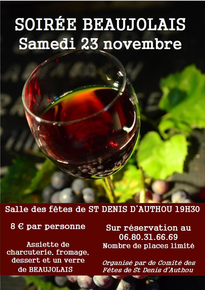 Soirée beaujolais à SAINTIGNY © comité des fêtes