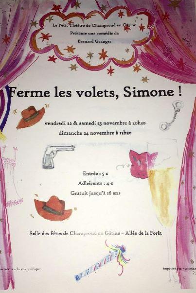 Ferme les volets, Simone à CHAMPROND-EN-GATINE © le petit théâtre
