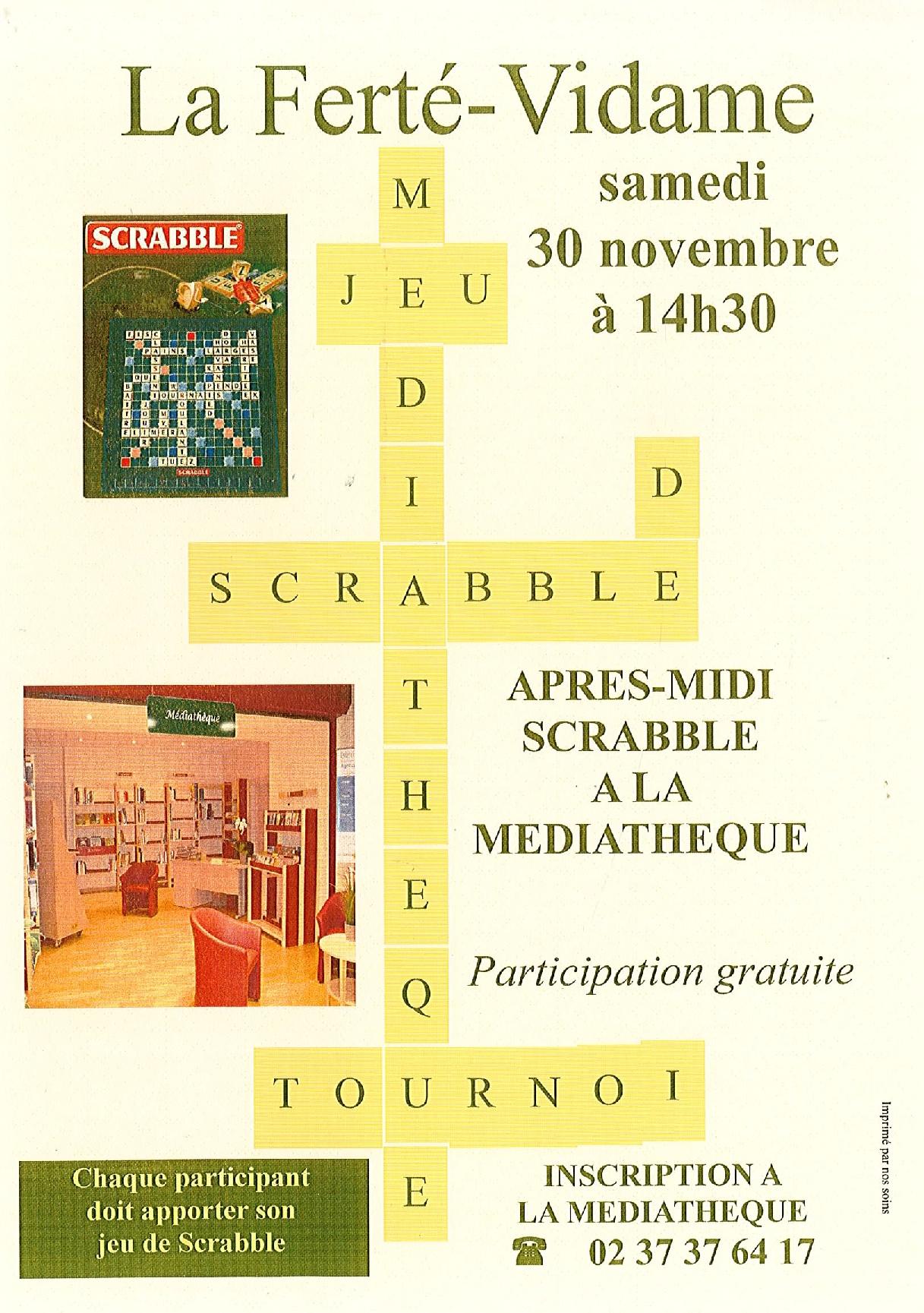 Après-midi Scrabble à LA FERTE-VIDAME © mediathèque la ferte vidame