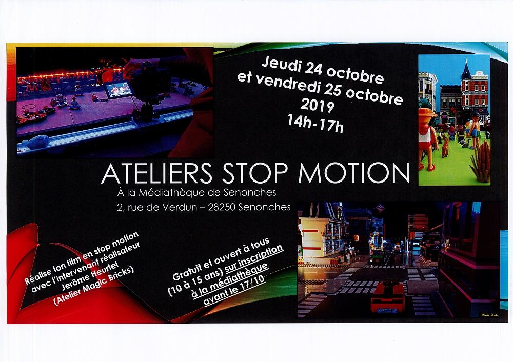 Ateliers Stop Motion – réalise ton film … à SENONCHES © mediatheque