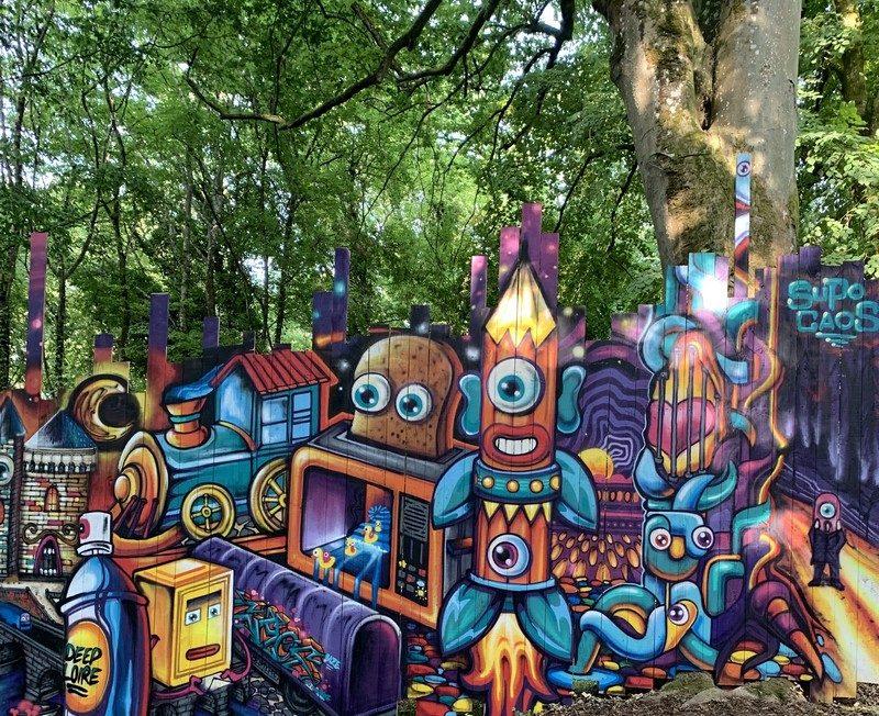 Street Art Parc du château de Môh à CANDES-SAINT-MARTIN © XILOST
