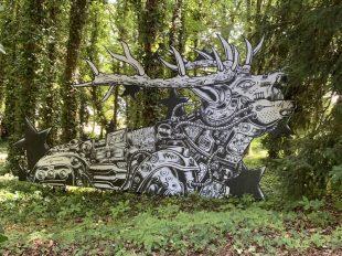 Street Art Parc du château de Môh à CANDES-SAINT-MARTIN - 2  © M Pignet
