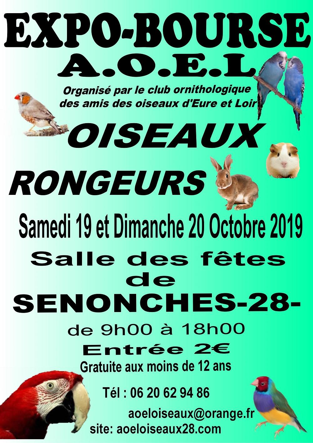 Expo-Bourse / Oiseaux et rongeurs à SENONCHES © A.O.E.L