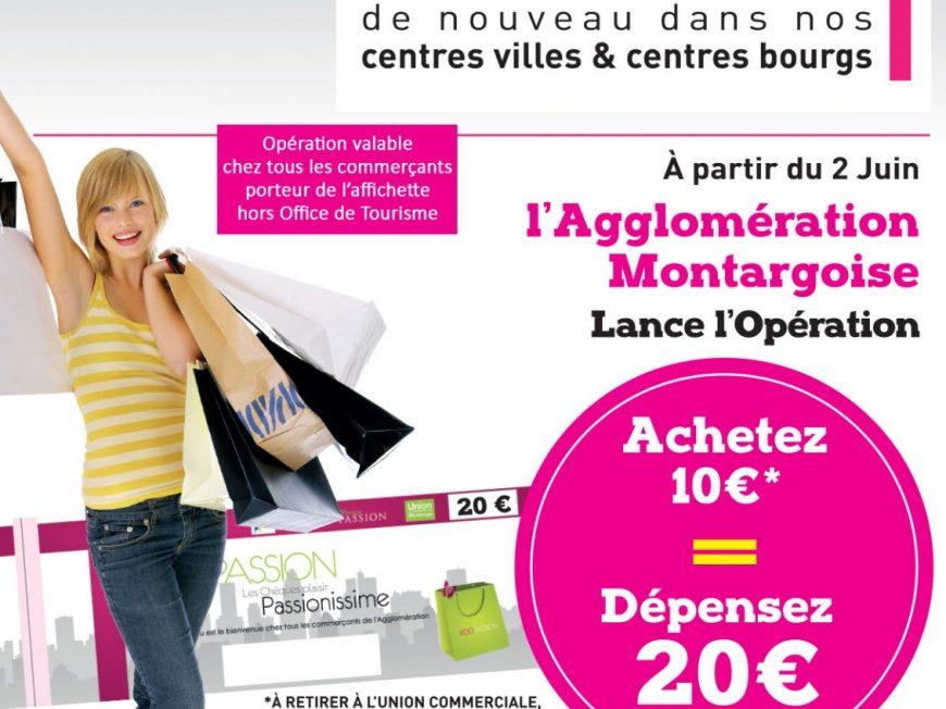 ACHETEZ 10 €, DEPENSEZ 20 € ! à MONTARGIS © Agglomération de Montargis