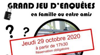 Affiche escape game 29-10-2020
