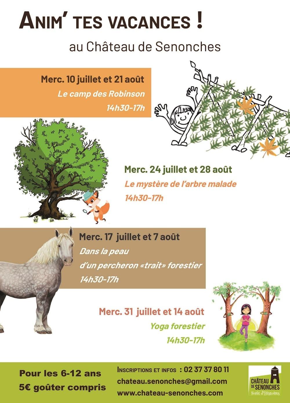 Anim'Tes Vacances – Le mystère de l'arbre malade à SENONCHES © nadia desilles