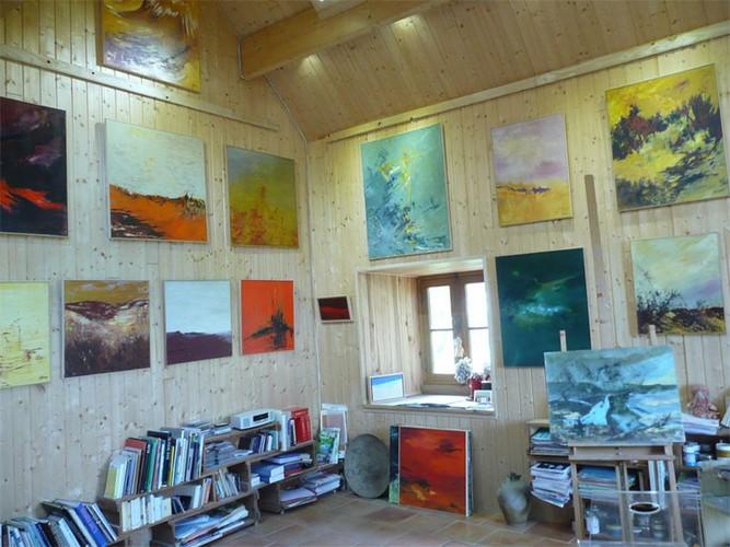 Atelier Claude Floret à CROZANT © OT Vallée des peintres