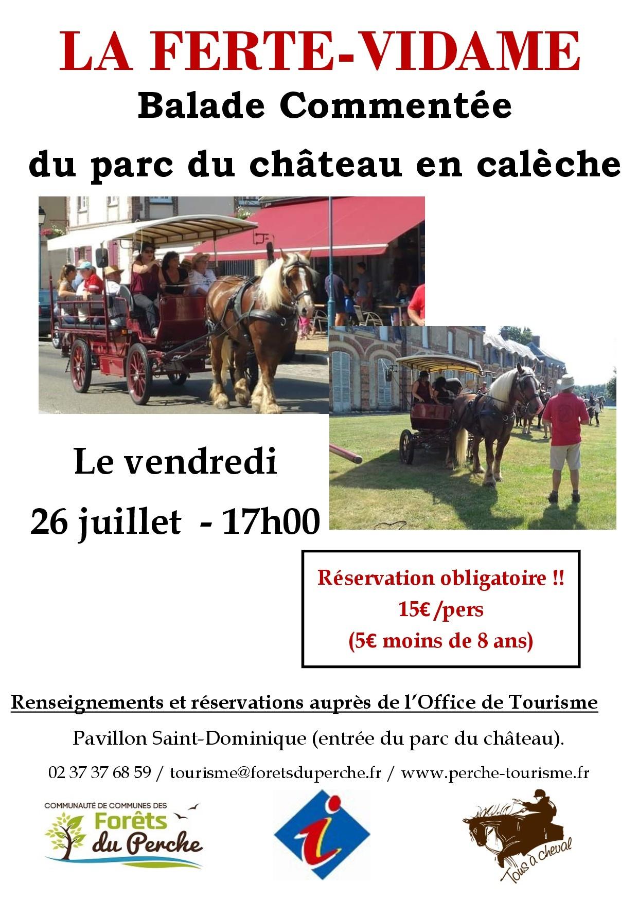 Balade commentée du parc du château en calèche de La Ferté Vidame à LA FERTE-VIDAME © maxime niobey