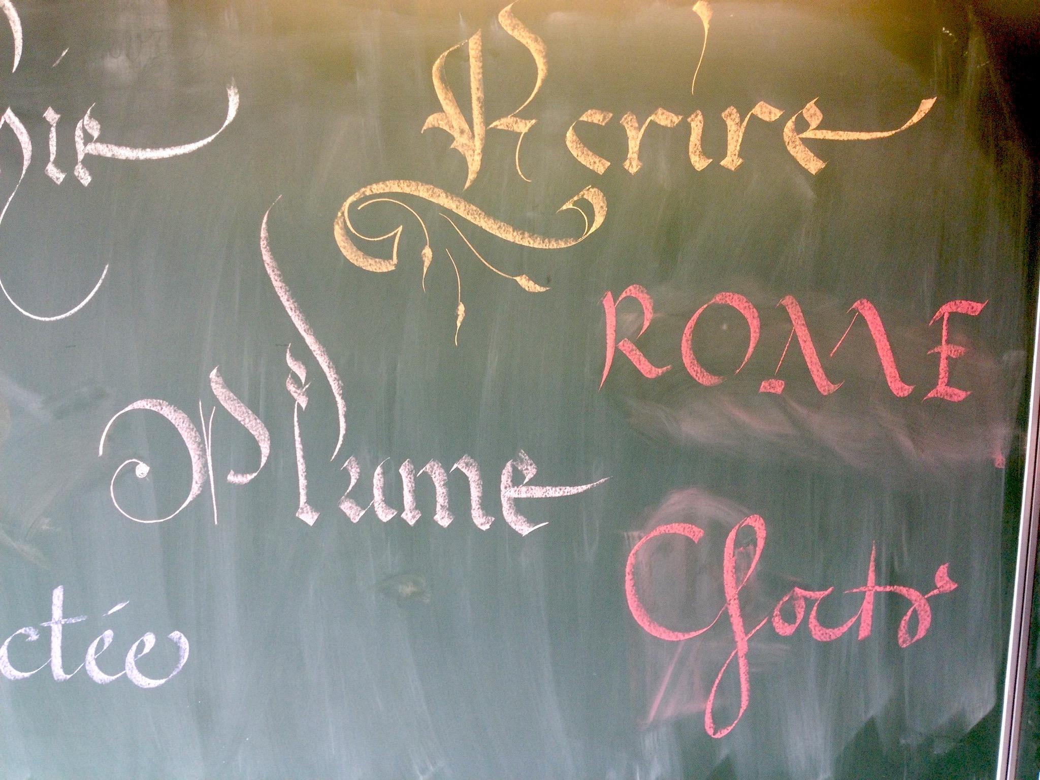 Atelier de calligraphie à CHAMPROND-EN-GATINE - 3  ©  Eric Montigny Calligraphe