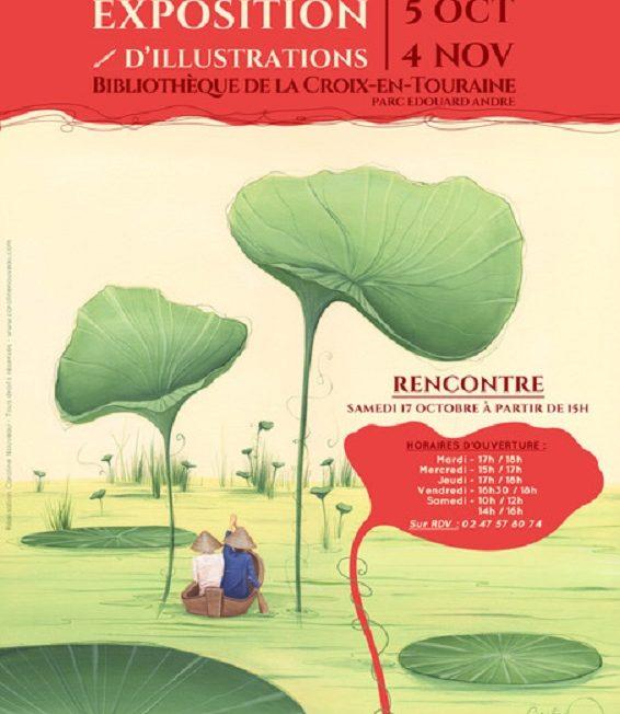 Exposition d'illustrations de Caroline NOUVEAU à LA CROIX-EN-TOURAINE © Bibliochouette