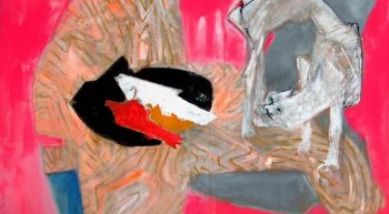 Chat aux poissons 1976, toile 114 x 146 HD