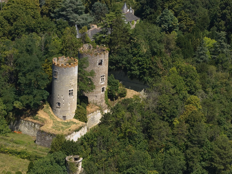 Restauration & sécurisation de la Tour-tourelle d'Escalier du château à CINQ-MARS-LA-PILE ©  Droits réservés
