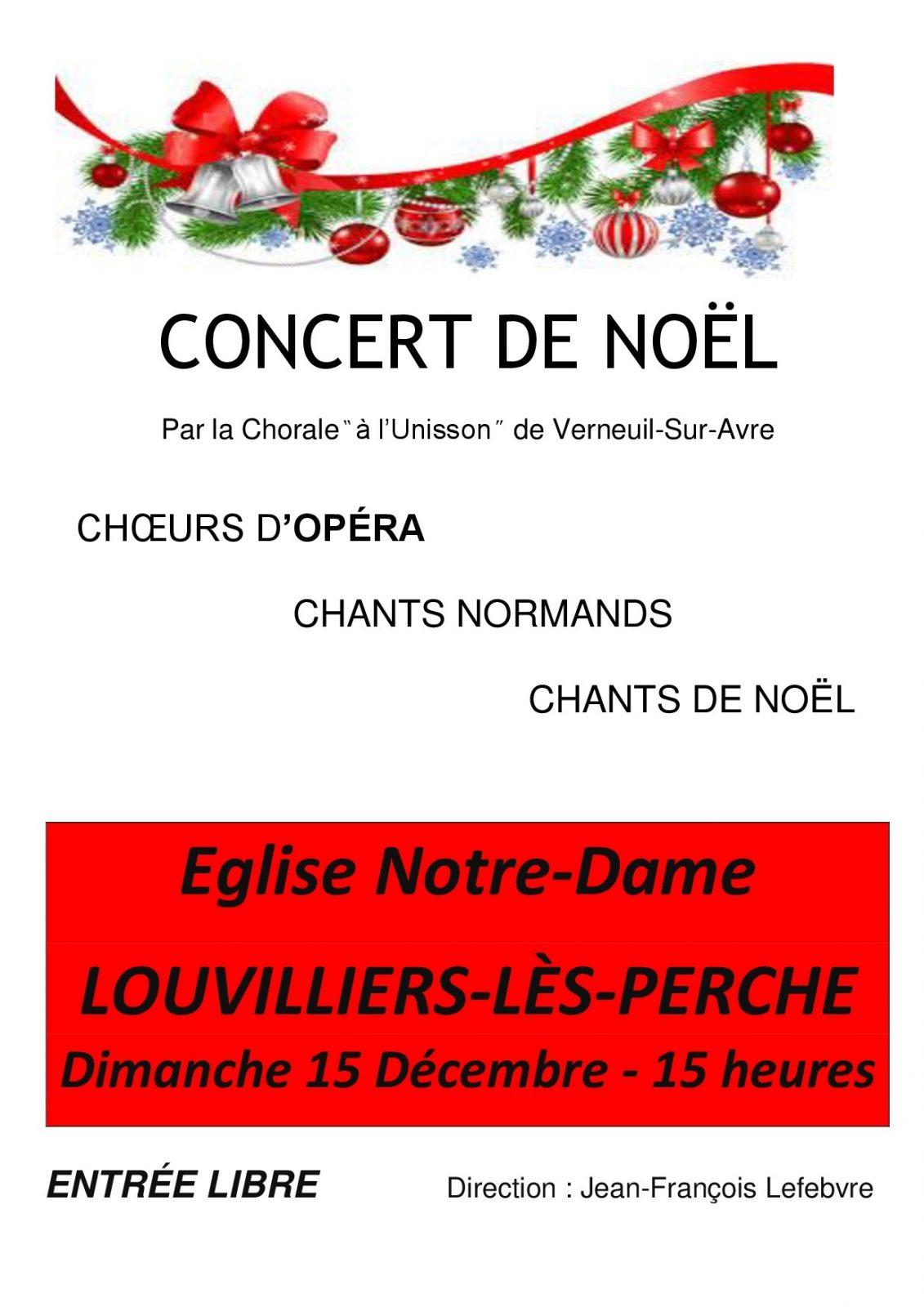 Concert de Noël – Eglise Notre Dame de Louvilliers-Lès Perche à LOUVILLIERS-LES-PERCHE © mairie de louvilliers les perche