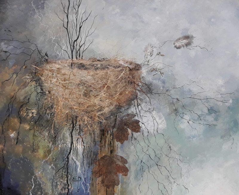 Exposition «Matières – Cire et mosaïque – Couleurs Loire» à la Maison de Loire du Loiret à JARGEAU © Elise Pioger