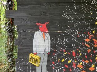 Street Art Parc du château de Môh à CANDES-SAINT-MARTIN - 10  © M Pignet