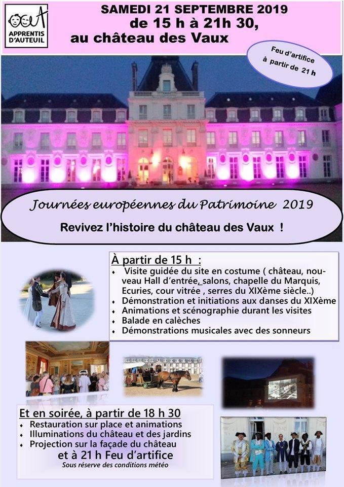 JOURNEE EUROPEENNES DU PATRIMOINE – Château des Vaux à SAINT-MAURICE-SAINT-GERMAIN © chateaudesvaux