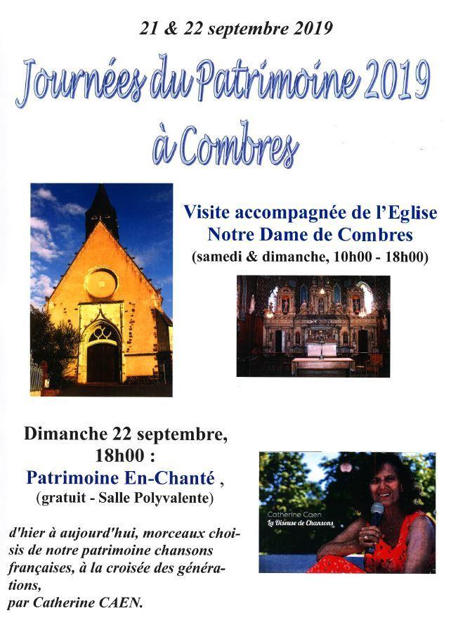 JOURNÉES EUROPÉENNES DU PATRIMOINE – Visite accompagnée de l'Eglise Notre Dame de Combres à COMBRES © mairiecombres