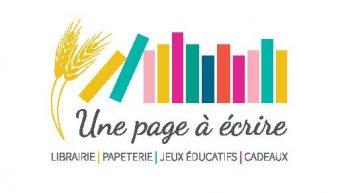 Logo librairie une page à écrire