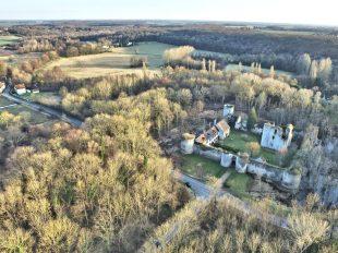 Visites au Château de Mez le Maréchal à DORDIVES - 4  © Drone Sky Picture