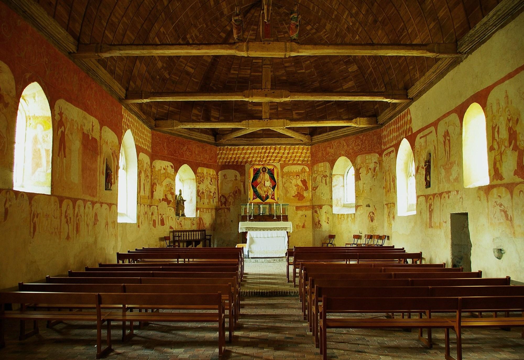 Visite commentée de la Chapelle Saint-Pierre de Réveillon à LA FERTE-VIDAME - 2  © OT Forêts du Perche