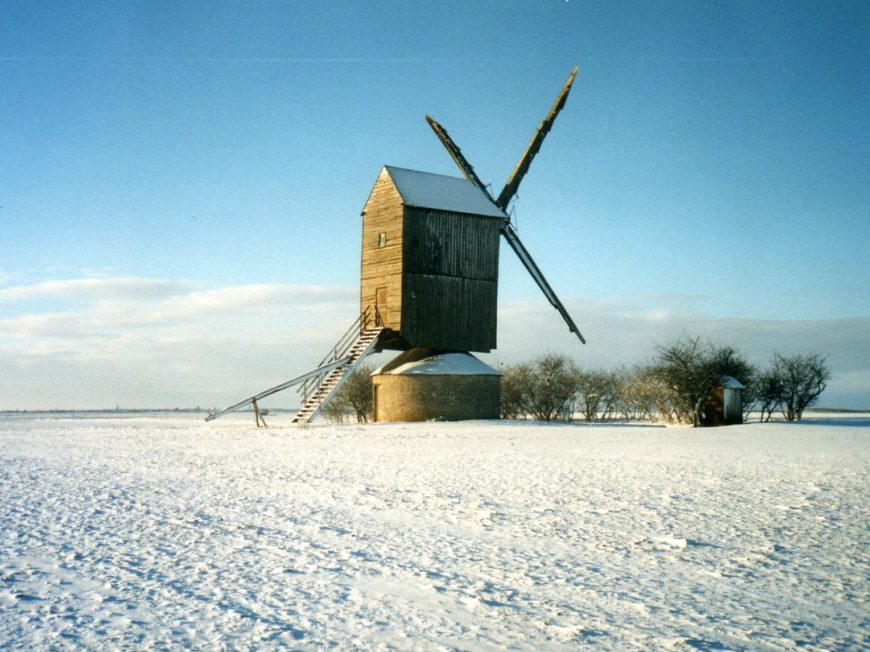 Moulin à vent «Fernand Barbier» à LEVESVILLE-LA-CHENARD © Moulin à vent