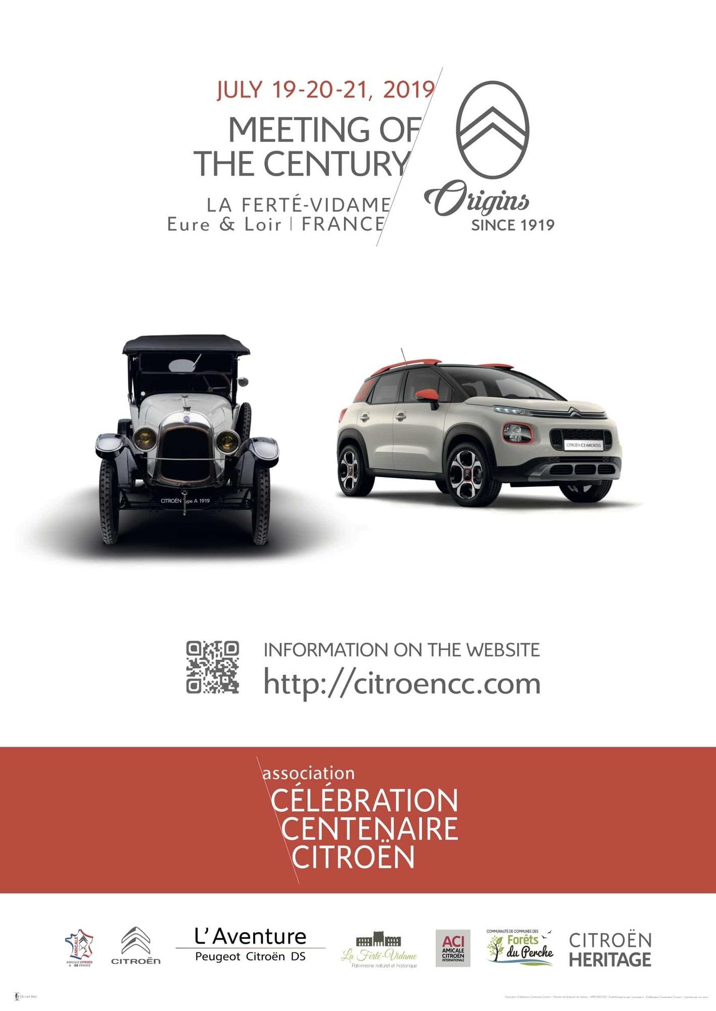 Célébration Centenaire Citroën – Rassemblement du siècle à LA FERTE-VIDAME © citroen