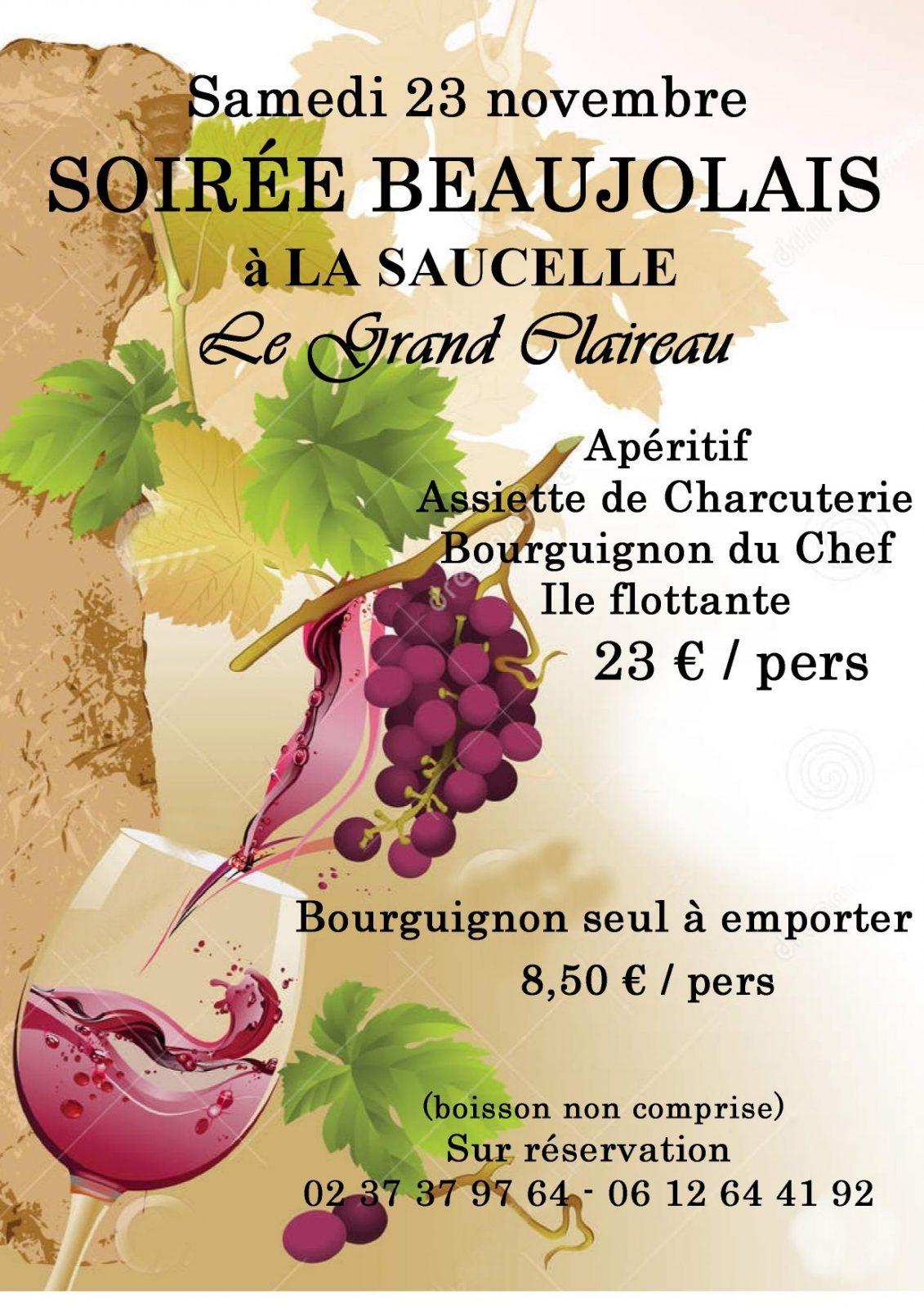 Soirée beaujolais – Le Grand Claireau à LA SAUCELLE © le grand claireau