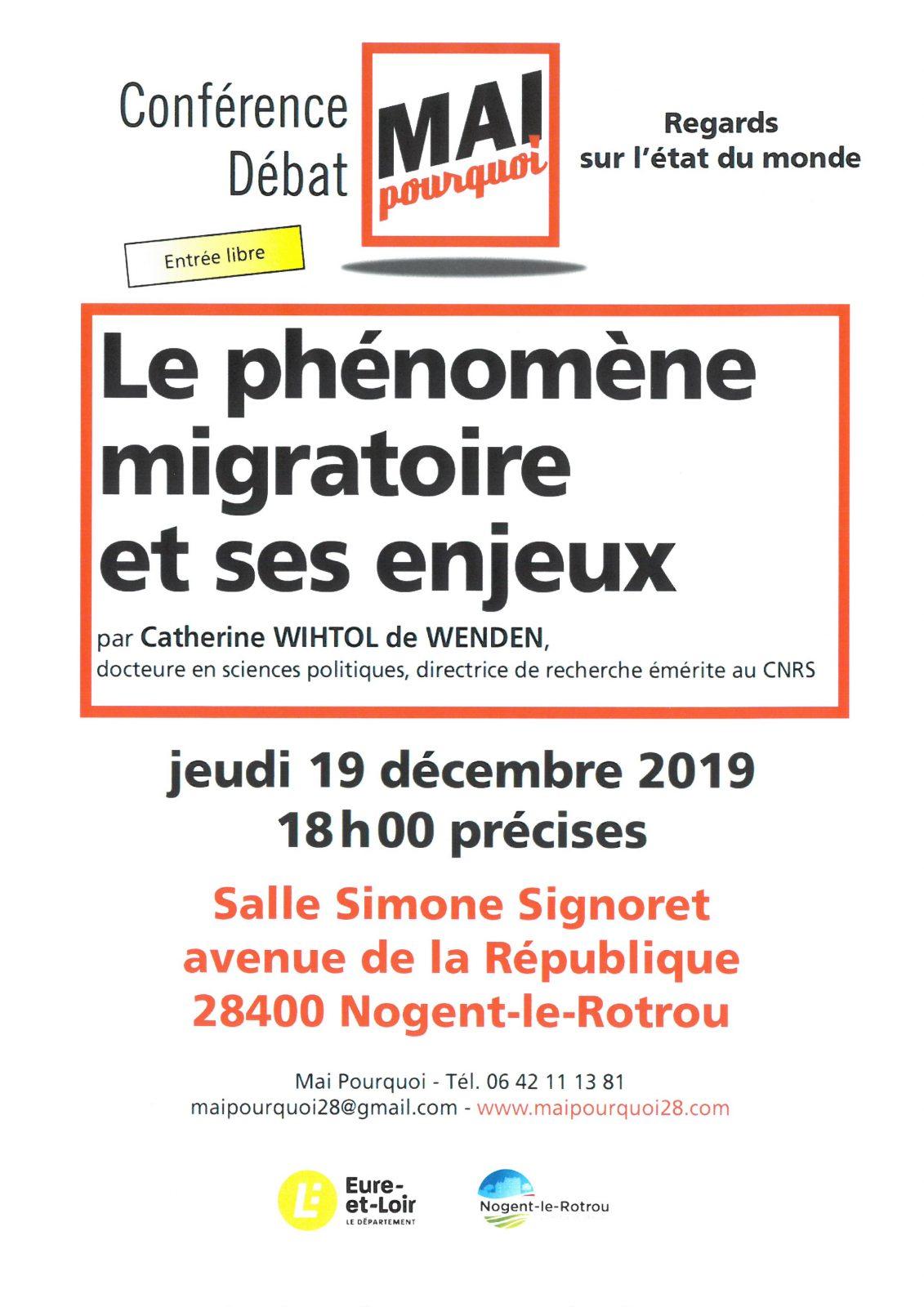 Conférence sur le phénomène migratoire et ses enjeux à NOGENT-LE-ROTROU © Mai Pourquoi