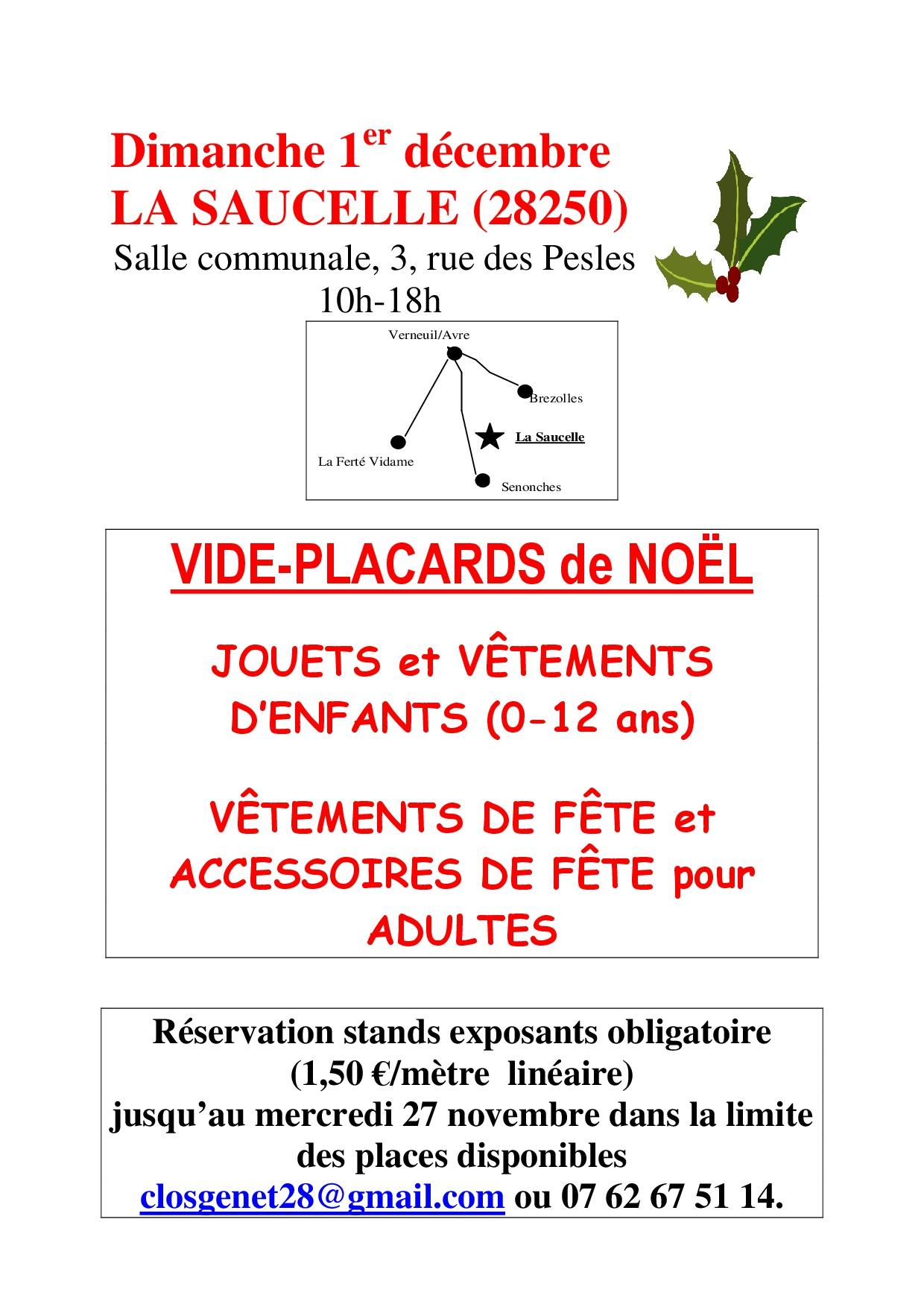 Vide-Placards de Noël à LA SAUCELLE © les amis du clos genets