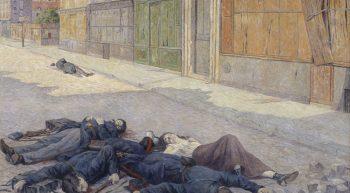 Un-rue-de-Paris-en-mai-1871-1903-1906-Maximilien-Luce-1858-1941-Huile-sur-toile-Orsay-2-1