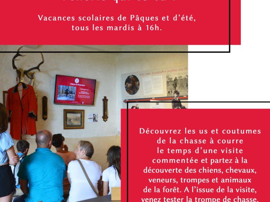 Visite commentée «Vènerie, qui es-tu ?» au Château de Montpoupon à CERE-LA-RONDE © château de Montpoupon