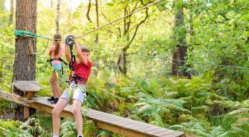 Le Baud'rillé Parc Aventure – Parcours dans les arbres
