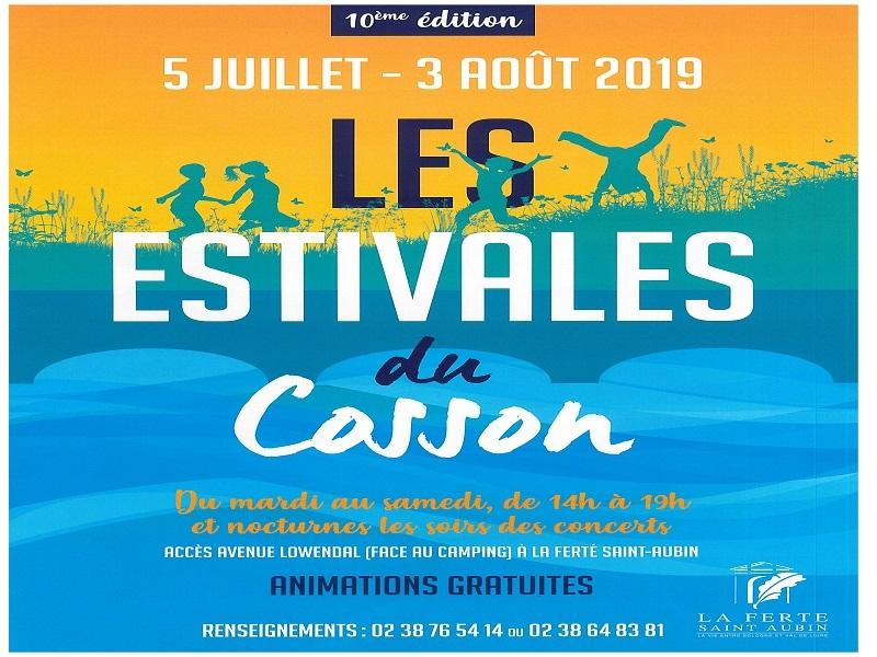LES ESTIVALES DU COSSON 2019 à LA FERTE-SAINT-AUBIN © estivales
