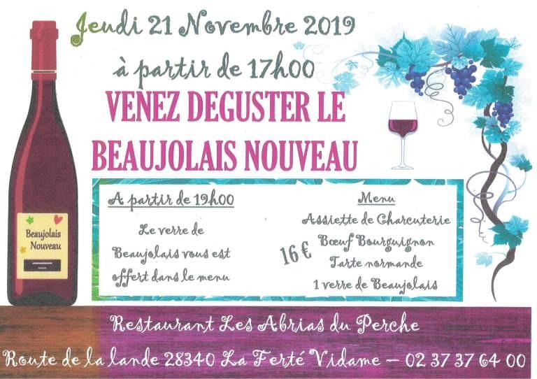 Le beaujolais nouveau est arrivé à LA FERTE-VIDAME © LES ABRIAS DU PERCHE