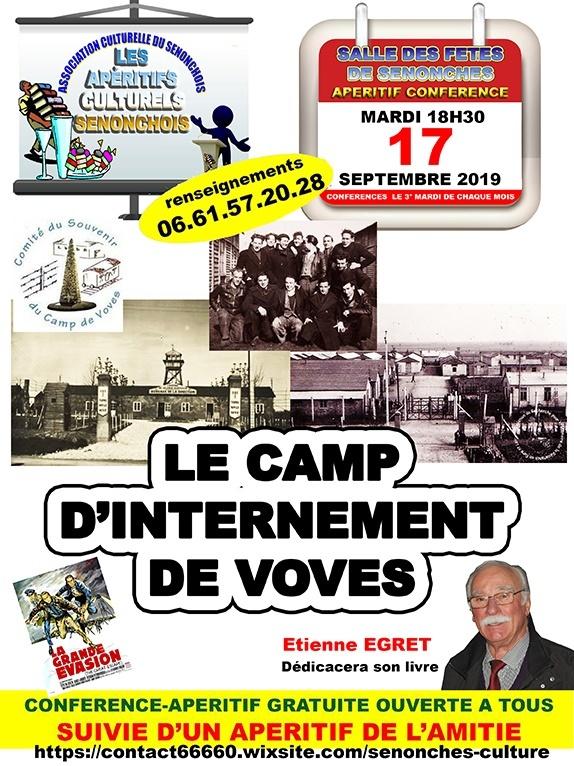 Apéritif-conférence / Le camp d'internement de Voves à SENONCHES © association culturelle