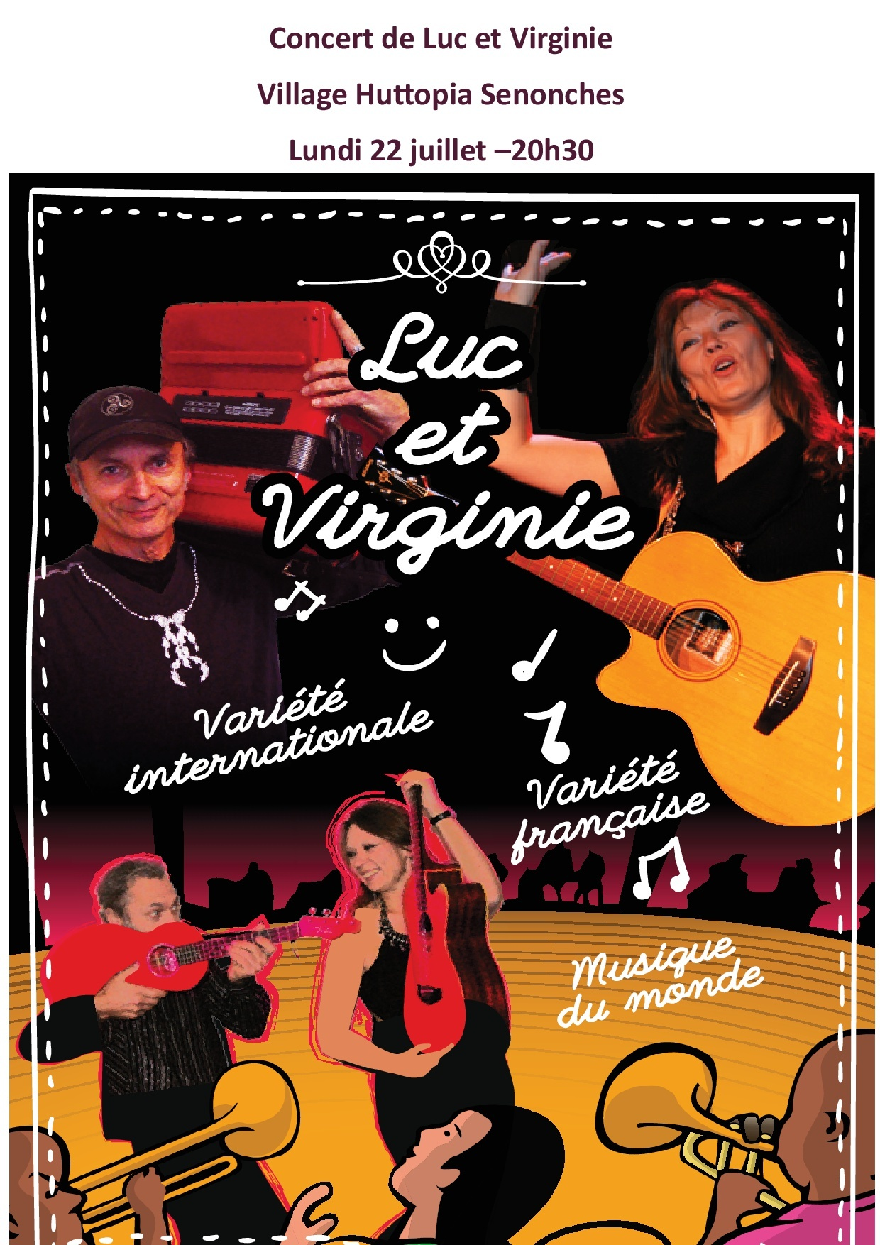 Concert avec Luc et Virginie – Village Huttopia à SENONCHES © huttopia