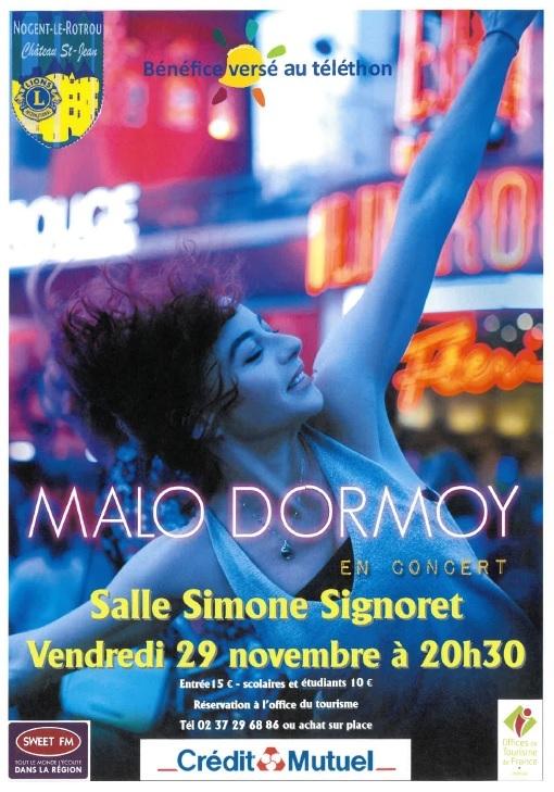 Malo Dormoy en concert à NOGENT-LE-ROTROU © lions club nogent