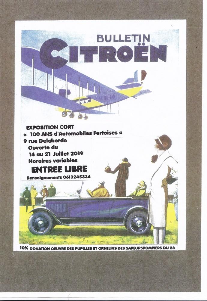 Exposition CORT – «100 ans d'Automobiles Fertoises» à LA FERTE-VIDAME © association CORT