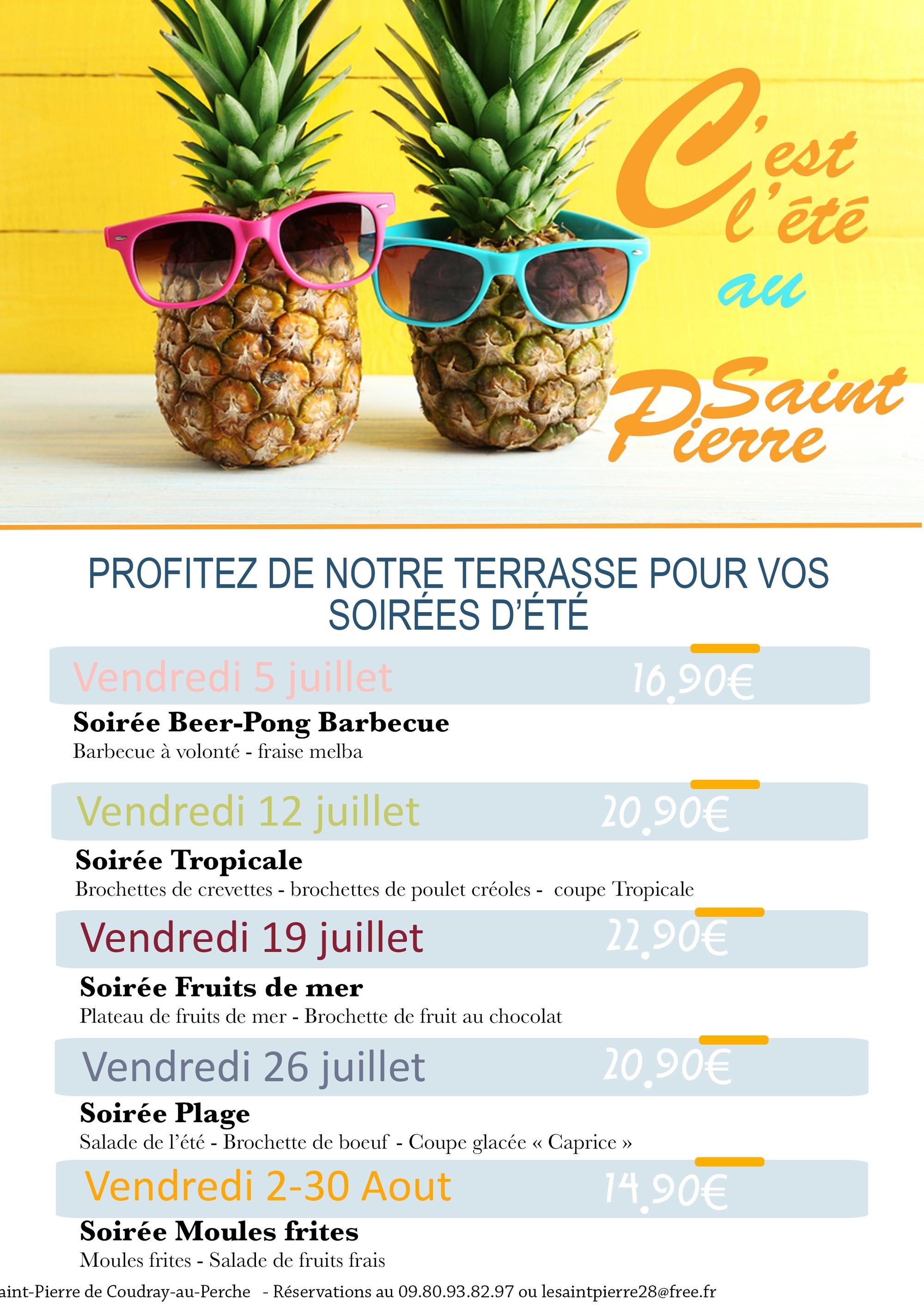 C'est l'été au Saint-Pierre ! à COUDRAY-AU-PERCHE © Bar restaurant St Pierre