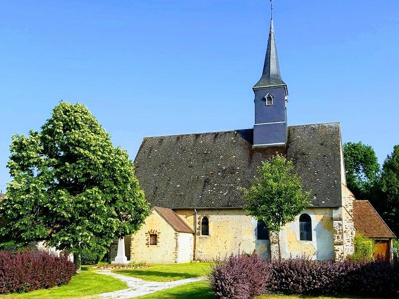 Journées du Patrimoine – visite libre de l'église de La Ville aux Nonains à LA VILLE AUX NONAINS - SENONCHES © philippe martoja