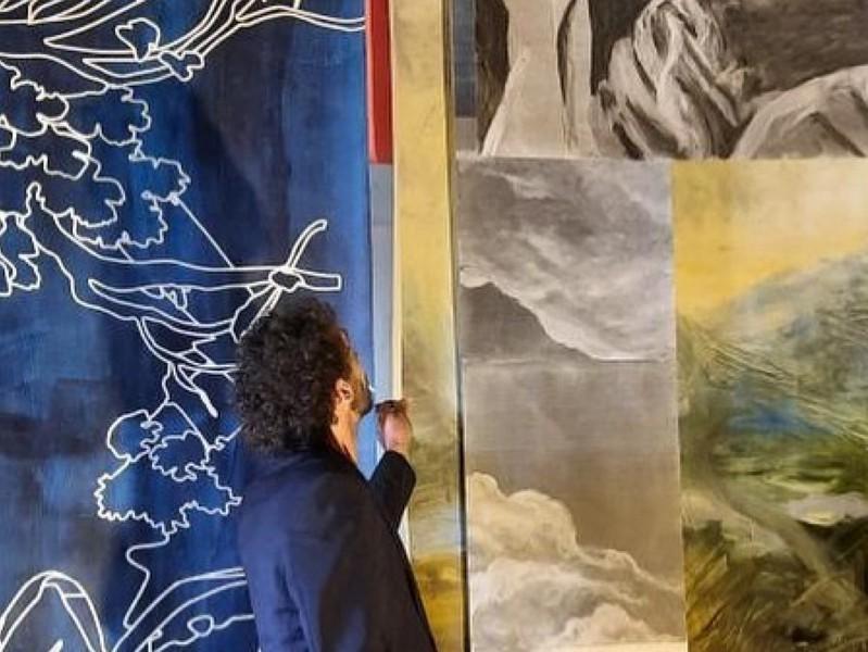 """Exposition """"Le fil perdu"""" de l'artiste Diego MOVILLA dans le cadre du parcours Act(e)s (art contemporain en Touraine) à CLERE-LES-PINS ©  L. Bizard-Hamilton"""