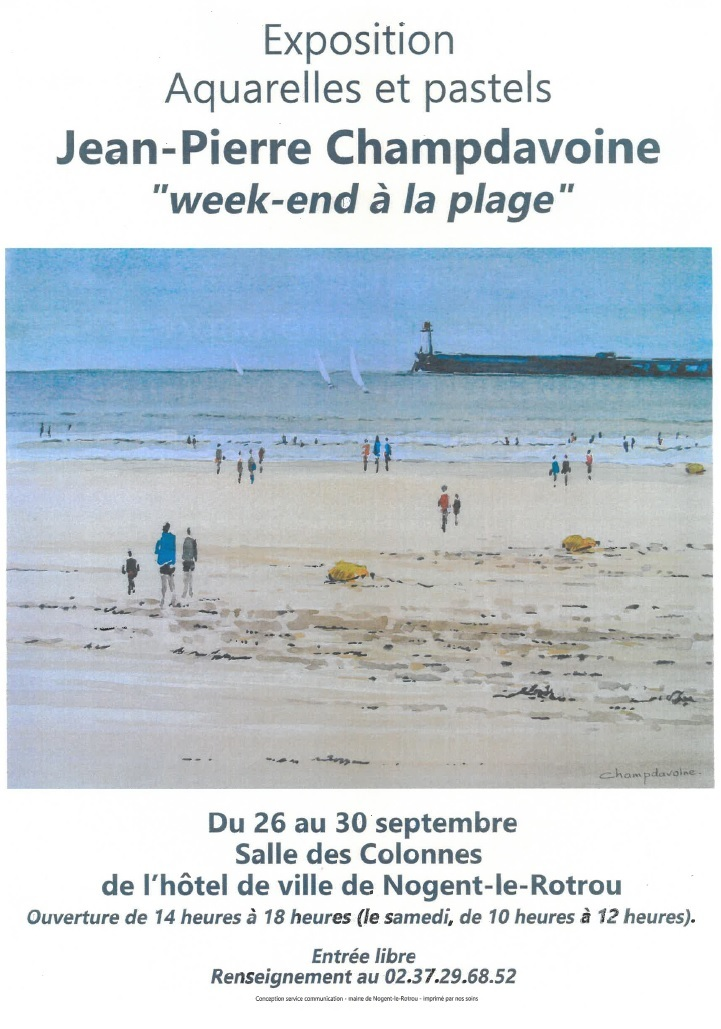 Expo «week-end à la plage» par J-P. Champdavoine à NOGENT-LE-ROTROU © jean-pierre champdavoine