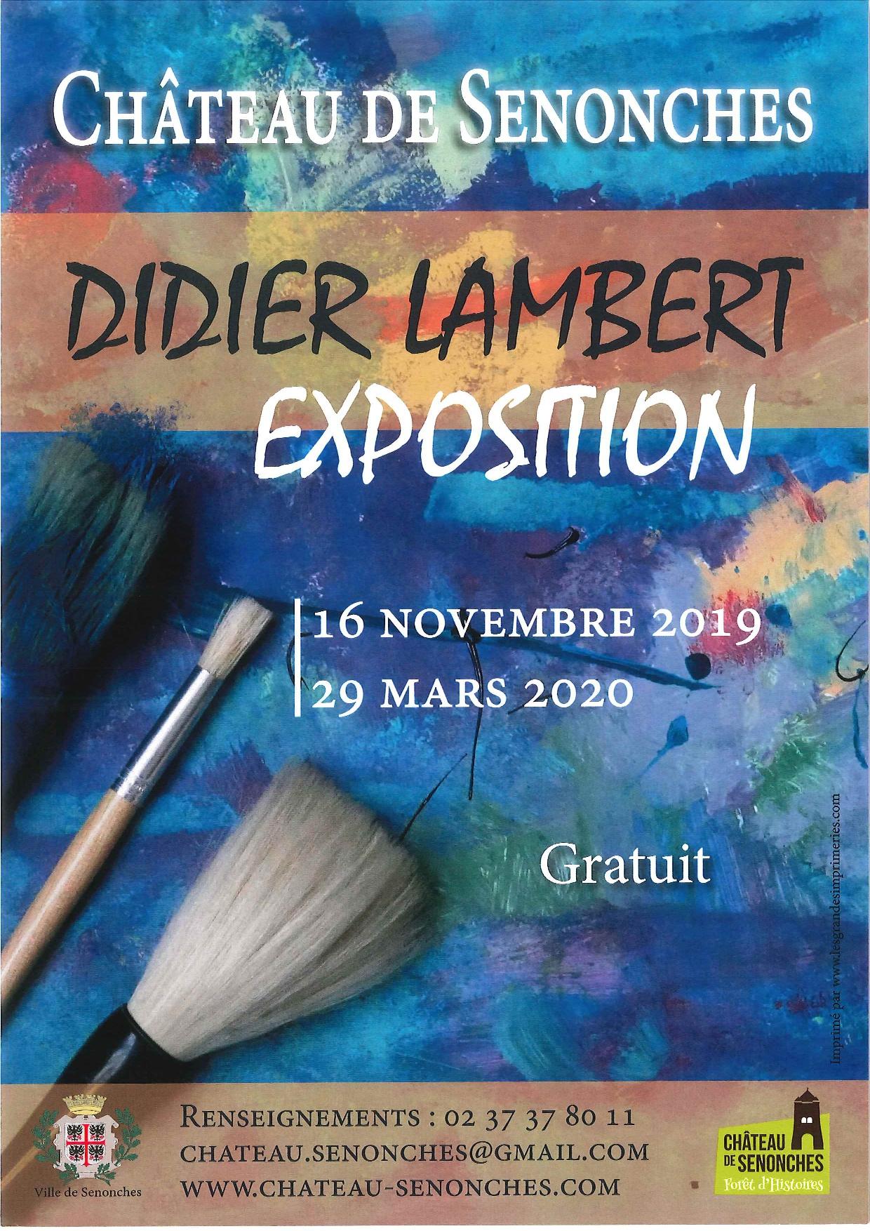 Didier Lambert – Exposition de peinture à SENONCHES © chateau de senonches