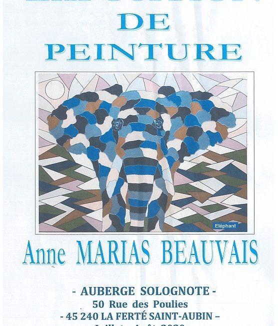 Exposition de peinture par Madame Anne MARIAS BEAUVAIS à LA FERTE-SAINT-AUBIN © expo